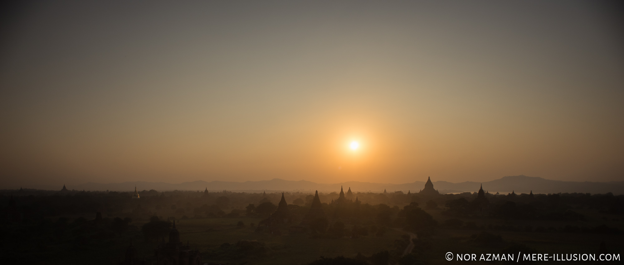 Sunsets in Bagan, Myanmar