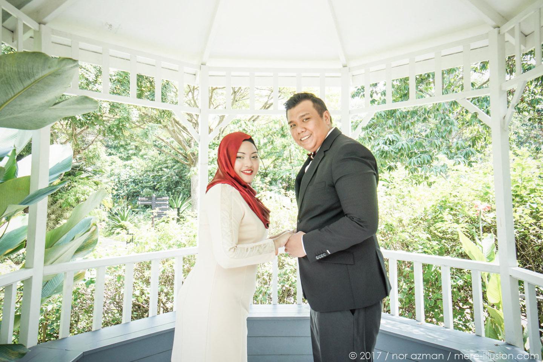 Hort Park Singapore wedding shoot