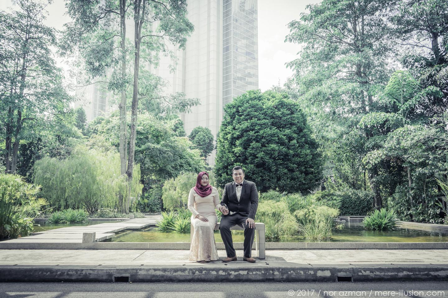 Hort Park Singapore wedding shoot